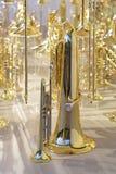 Instrumentoes de viento de cobre amarillo Imagen de archivo