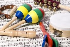 Instrumentos 2 de los niños Fotos de archivo libres de regalías