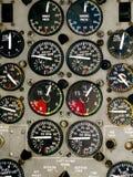 Instrumentos da cabina do piloto do avião Fotos de Stock Royalty Free