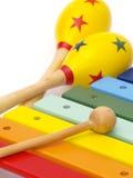 Instrumentos da criança Foto de Stock Royalty Free