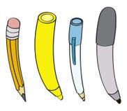 Instrumentos da escrita Imagem de Stock