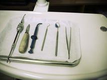 Instrumentos da odontologia Imagem de Stock Royalty Free