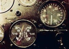 Instrumentos de aviones fotografía de archivo