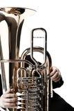 Instrumentos de bronze da tuba euphonium imagens de stock
