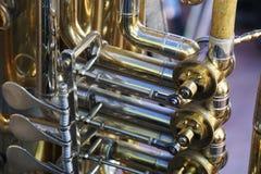 Instrumentos de cobre Foto de archivo libre de regalías