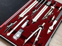 Instrumentos de dibujo profesionales Foto de archivo libre de regalías