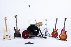 Instrumentos de la banda de rock Imagen de archivo libre de regalías