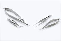 Instrumentos de la cirugía del ojo Imágenes de archivo libres de regalías