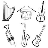 Instrumentos de música Fotografia de Stock