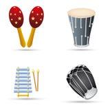 Instrumentos de música Fotos de archivo libres de regalías