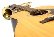 Instrumentos de música Imagen de archivo libre de regalías