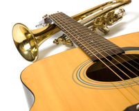 Instrumentos de música Fotografía de archivo libre de regalías