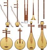 Instrumentos de música chinos Imagen de archivo