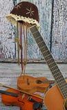 Instrumentos de música country Foto de archivo libre de regalías