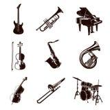 Instrumentos de música do vetor ilustração royalty free
