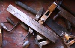 Instrumentos de madeira da mão Foto de Stock