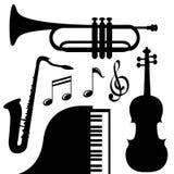Instrumentos de música Foto de archivo libre de regalías