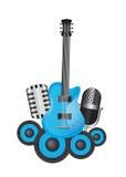 Instrumentos de Musicals Imagen de archivo libre de regalías
