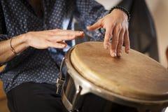 Instrumentos de percussão e conceito do musicology imagem de stock