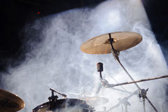 Instrumentos de percussão na cena Foto de Stock Royalty Free