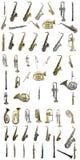 Instrumentos de vento Imagens de Stock Royalty Free
