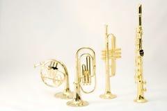 Instrumentos de vento Imagens de Stock