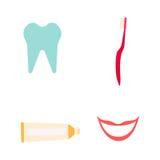 Instrumentos del dentista fijados Stock de ilustración