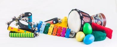Instrumentos del ritmo Foto de archivo libre de regalías
