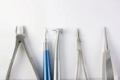 Instrumentos dentales Fotos de archivo libres de regalías