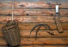 Instrumentos do camponês do trabalho Imagem de Stock