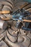 Instrumentos do carpinteiro Fotografia de Stock Royalty Free