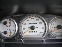 Instrumentos do painel do carro fotografia de stock
