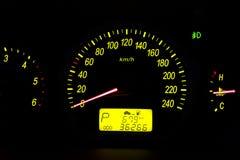 Instrumentos do painel do carro Foto de Stock