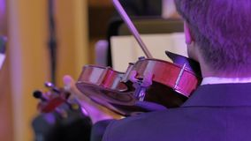 Instrumentos do violino, orquestra sinfônica Fotos de Stock