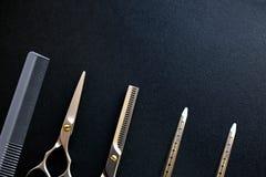 Instrumentos dos cabeleireiro Fotos de Stock