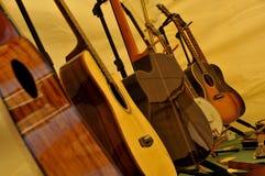 Instrumentos encadenados musicales Imagen de archivo