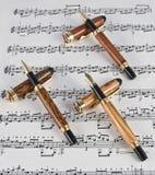 Instrumentos finos da escrita Foto de Stock
