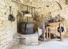 Instrumentos franceses tradicionales de la granja Imagen de archivo libre de regalías