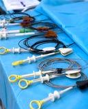 Instrumentos médicos de la endoscopia Fotografía de archivo libre de regalías
