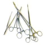 Instrumentos médicos isolados no branco Imagem de Stock Royalty Free