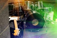 Instrumentos musicais fotografia de stock