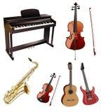 Instrumentos musicais ilustração royalty free