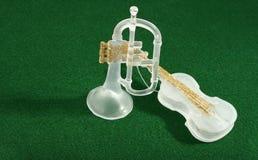 Instrumentos musicais Foto de Stock