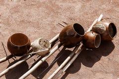 Instrumentos musicais autênticos imagens de stock