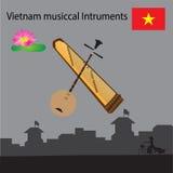 Instrumentos musicais de Vietname Foto de Stock Royalty Free