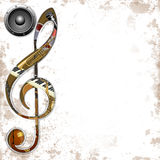 Instrumentos musicais do ? do fundo Fotos de Stock Royalty Free