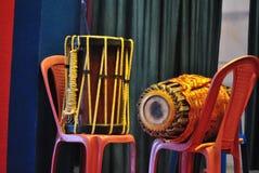 Instrumentos musicais indianos Dhol Fotografia de Stock