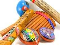 Instrumentos musicais latino-americanos Foto de Stock Royalty Free
