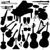 Instrumentos musicais - orquestra ilustração stock