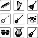 Instrumentos musicales 1 Foto de archivo libre de regalías